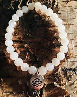 Lotus Moon Crystal Bracelet