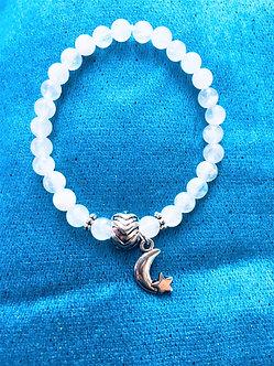 Rainbow Moonstone Holiday Crystal Bracelet