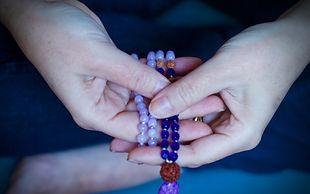 mala crystal beads for prayer