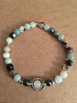 Peaceful Moon Crystal Bracelet