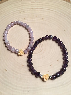 Mommy & Me Double Amethyst Set