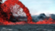 Lava Rocks being made