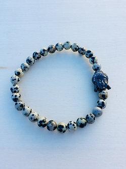 Dalmation Jasper Crystal Bracelet