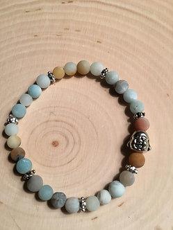 Amazonite (Natural) Buddah Crystal Bracelet