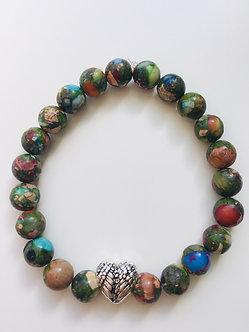 Find Freedom Crystal Bracelet-Rainbow Imperial Jasper