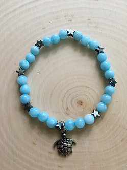 Turtle Awareness Crystal Bracelet