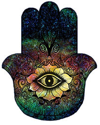 Hamsa symbol, may no harm come to you