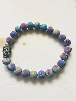 Rainbow Druzy Crystal Bracelet