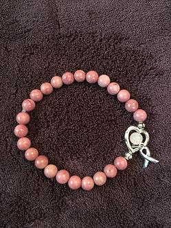 Heart Healer Cancer Awareness Crystal Bracelet