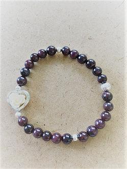 Rosey Garnet Crystal Bracelet