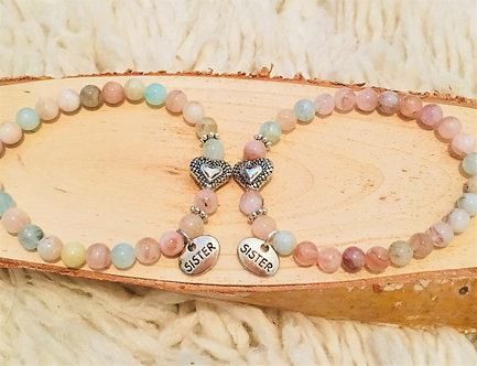 Sisters Forever Crystal Bracelet Set (2)