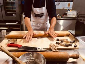 Massimo preparing cannoli siciliani