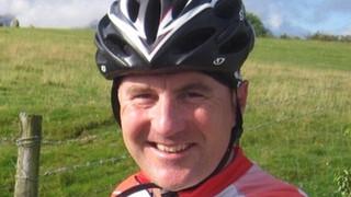 Gavin, keen cyclist