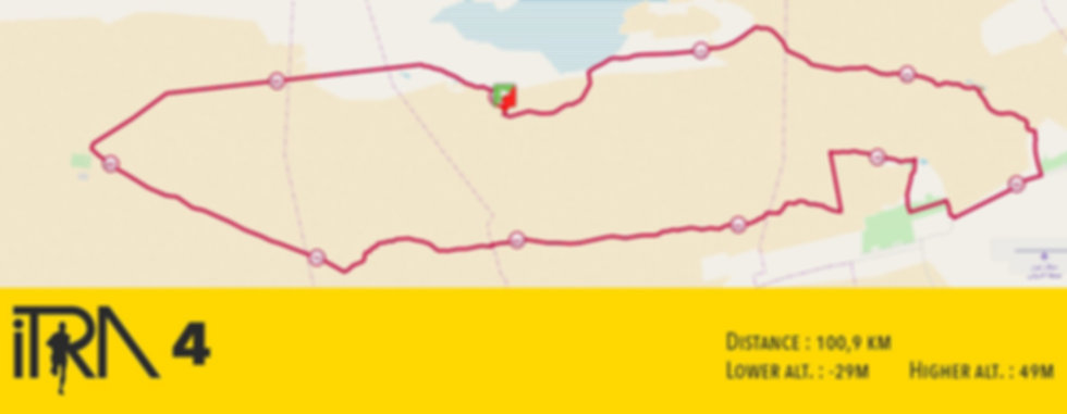 Tracé de la course Ultra Mirage El Djerid 2018