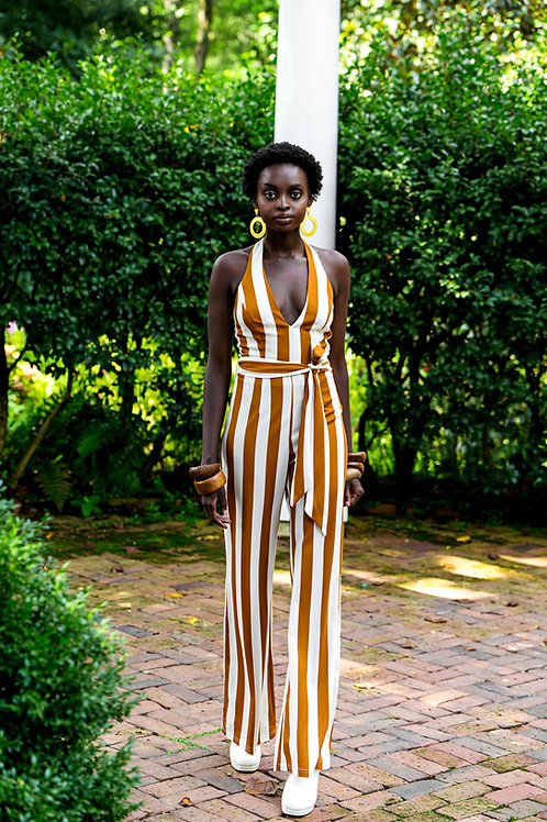 Leora Striped Jumpsuit