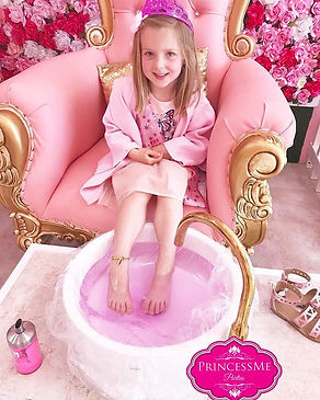 Royal pink pedi for this sweet Princess�