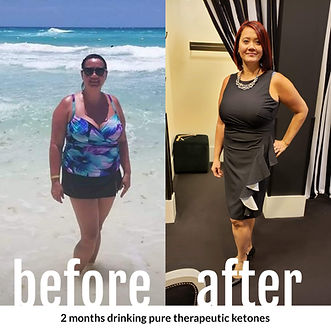 Abby's physical transformation using ketones and a keto lifestyle