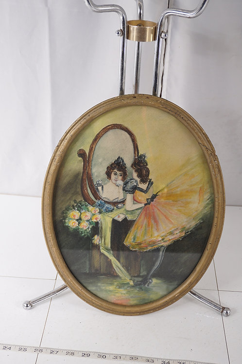 Early 1900s Oval Watercolor