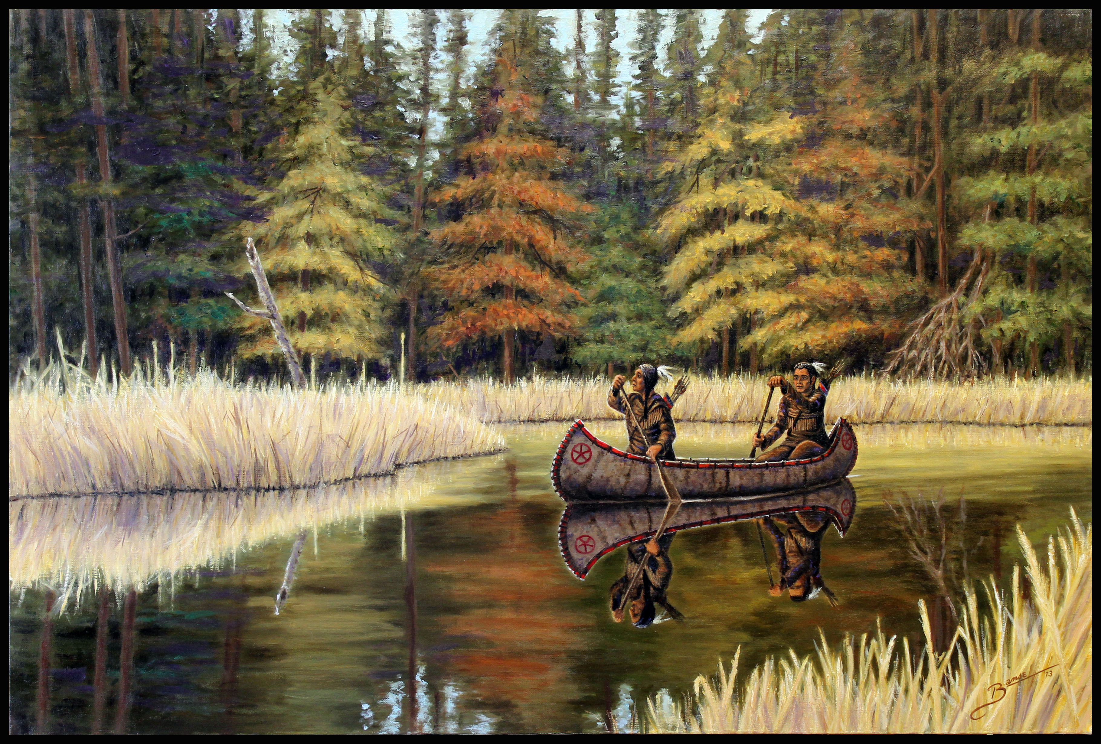 Quiet Water 2013 ( 36 x 24 Oil On Linen Canvas )