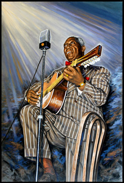 Lead Belly ( 2014 - 24 x 36 Oil On Linen Canvas )