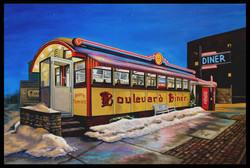 Boulevard Diner ( 2016 - 36 x 24 Oil on Linen Canvas  )