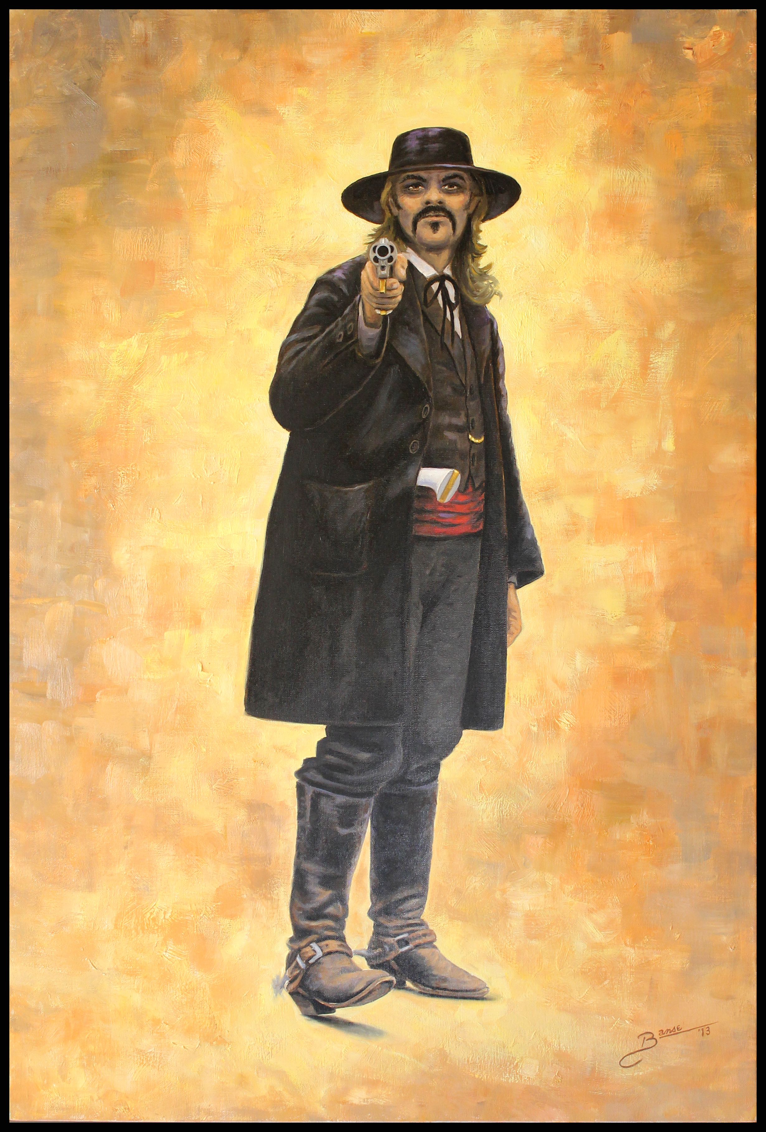 The Shootist ( 2013 - 24 x 36 Oil On Linen Canvas )