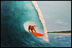 Surfer Girl ( 2017 - 36 x 24 - Oil On Linen Canvas )