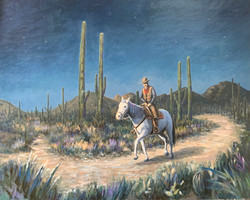 On The Moonlit Trail 2012 (24 x 30)