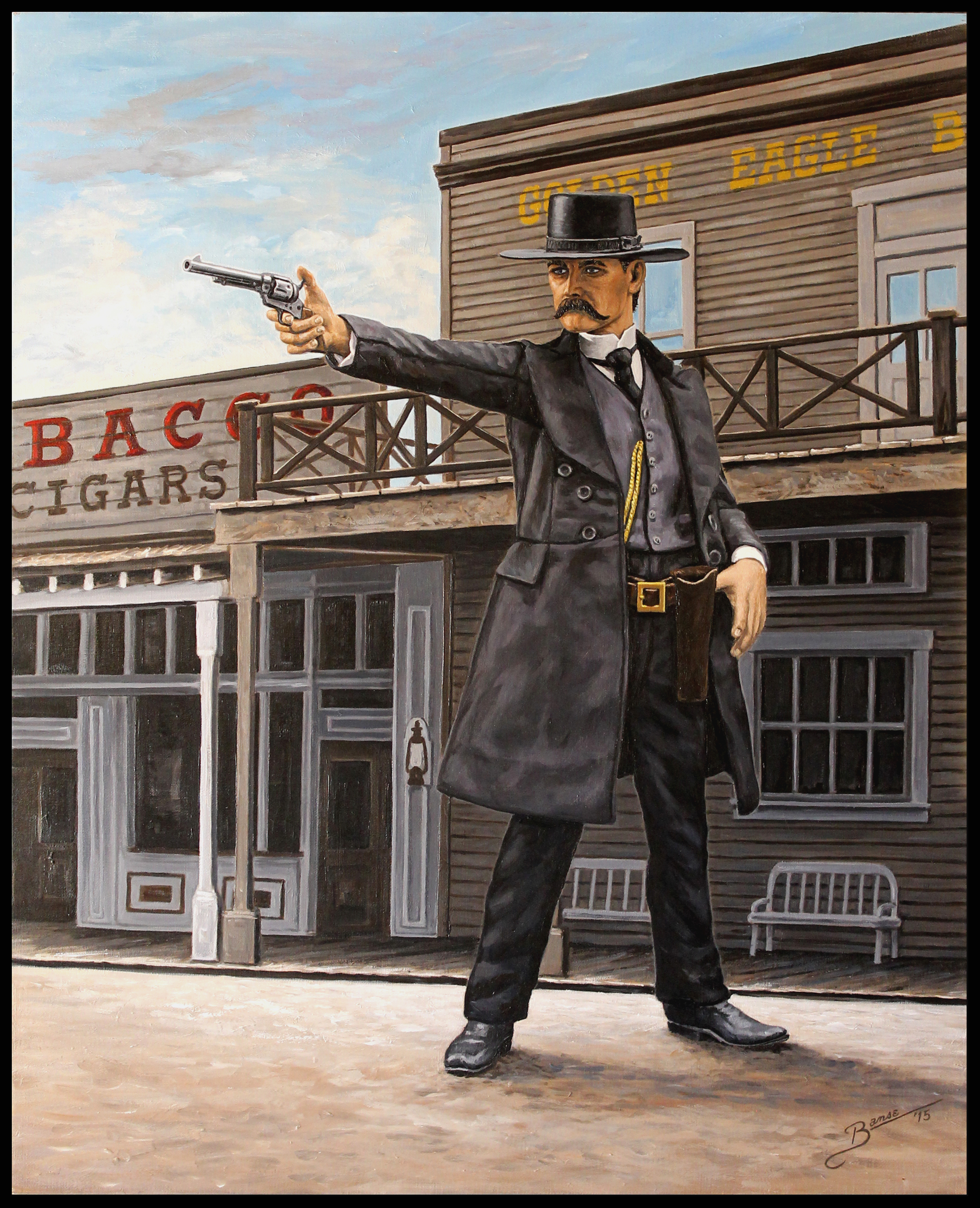 Wyatt Earp In Tombstone ( 2015 - 24 x 30 Oil On Linen Canvas )