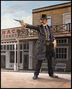 Wyatt Earp In Tombstone ( 2015 - 24 x 30 Oil On Linen Canvas )