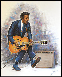 Chuck Berry ( 2015 - 24 x 30 Oil On Linen Canvas )