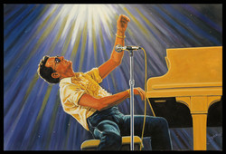 God Bless Jerry Lee Lewis ( 2015 - 36 x 24 Oil On Canvas )