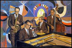 Dave Brubeck Quartet 2016 ( 36 x 24 Oil On Linen Canvas )