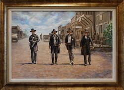 Headin' For A Showdown ( 2012 - 36 x 24 Oil On Linen Canvas )