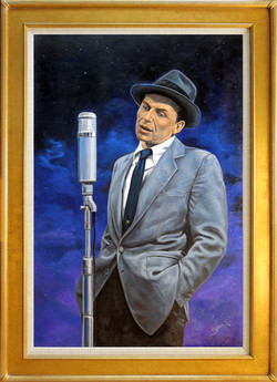 Moonlight Sinatra ( 2016 - 24 x 36 Oil On Linen Canvas )