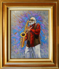 Sonny Rollins ( 2010 - 16 x 20 Oil On Canvas )