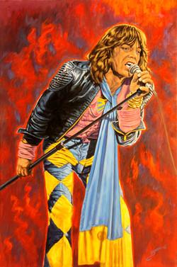 Mick Jagger ( 2015 - 24 x 36 Oil on Linen Canvas )