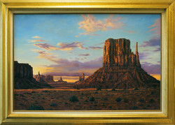 Monument Valley West Mitten ( 2010 - 36 x 24 Oil On Canvas )