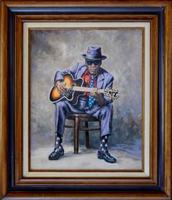 John Lee Hooker ( 2009 - 16 x 20 Oil On Canvas )