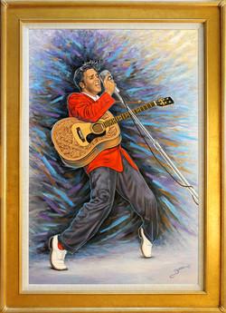 Elvis Presley ( 2016 - 24 x 36 Oil On Linen Canvas )