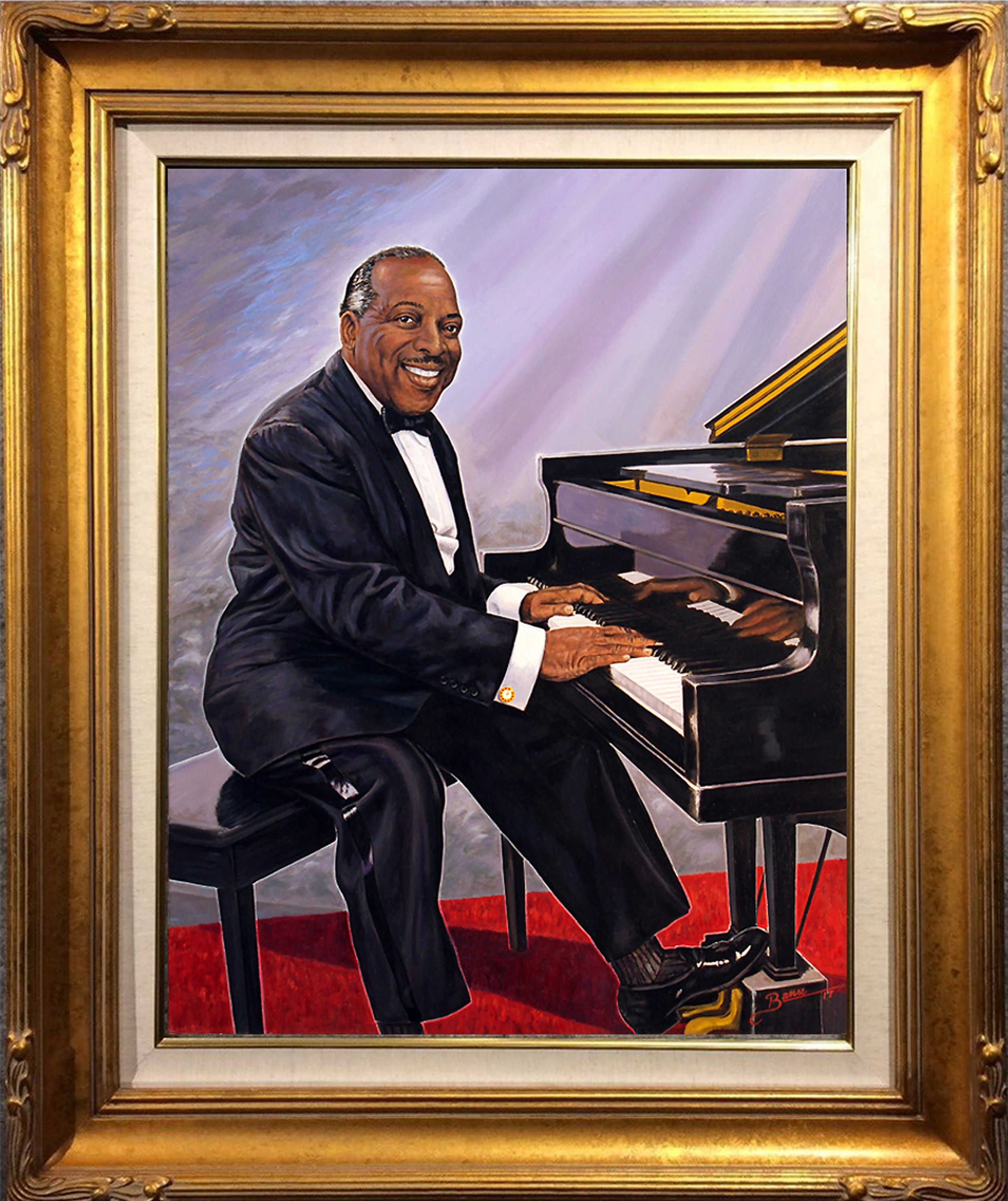Count Basie ( 24 x 30 Oil On Linen Canvas ) ( Simulated Frame )