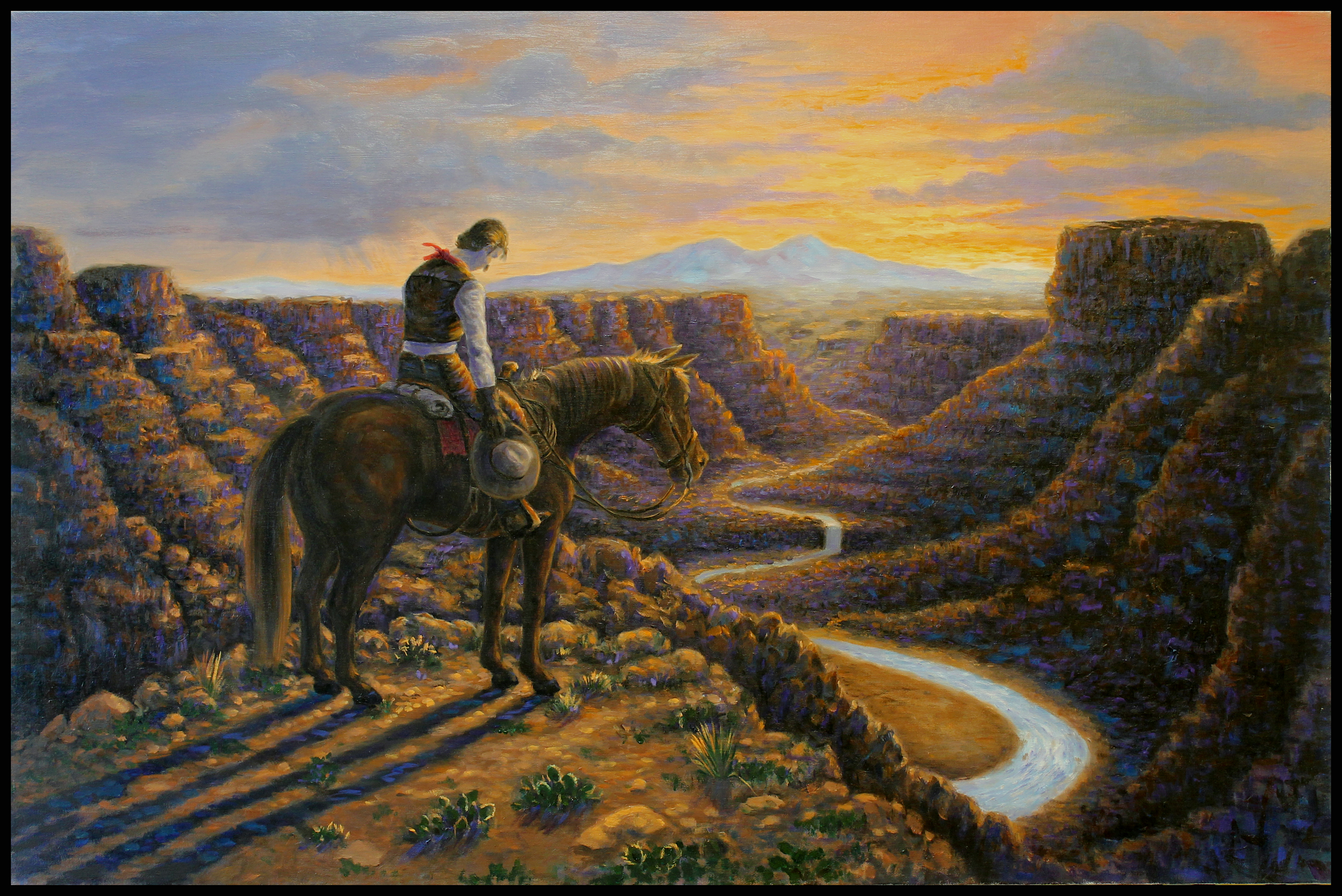 End Of The Trail ( 2010 - 36 x 24 Oil On Canvas )