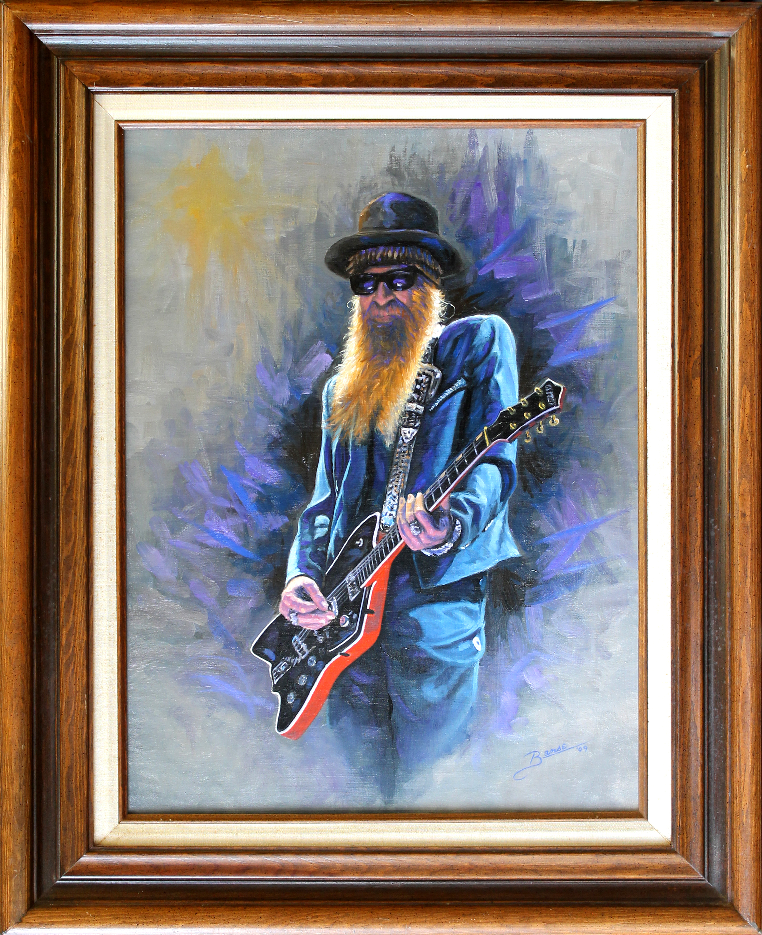 Billy Gibbons ( 2009 - 18 x 24 Oil On Canvas )