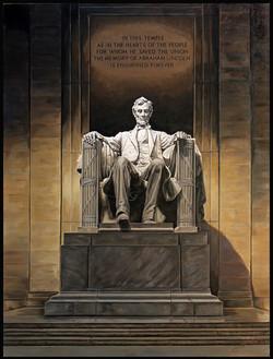 Lincoln Memorial ( 2016 - 30 x 40 Oil On Linen Canvas )