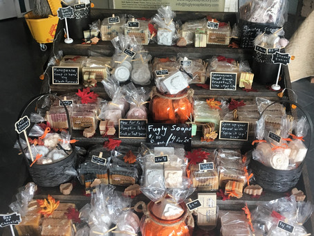 Fall Soaps now at Sinistra Salon and Gallery in Blairmore!