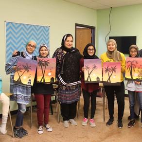 Girls Craft - Canvas Painting