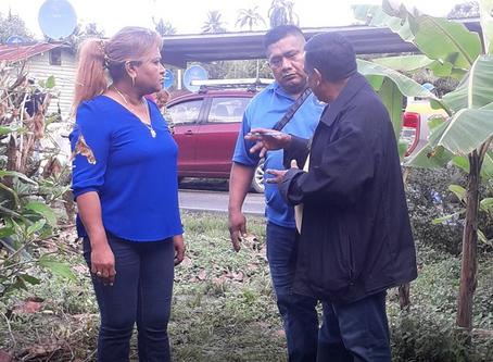 Evalúan a familias de trabajadores bananeros para mejoramiento habitacional en Bocas del Toro
