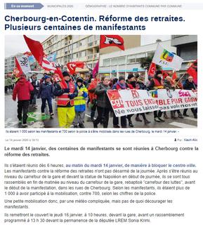 La Manche Libre du 14/01/2020