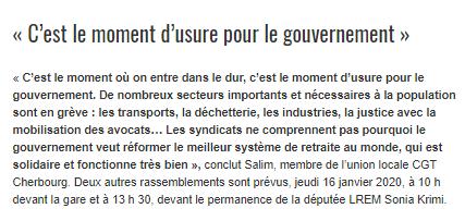 Ouest-France du 14/01/2020 suite article
