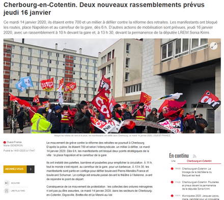 Ouest-France du 14/01/2020